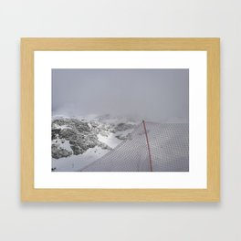 Snow is whiter on the other side Framed Art Print