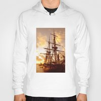 pirate ship Hoodies featuring PIRATE SHIP :) by Teresa Chipperfield Studios