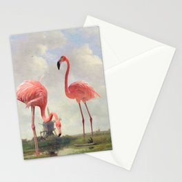 FISHING WITH FLAMINGOS Stationery Cards