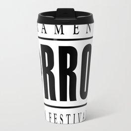 Sacramento Horror Film Festival Black Logo Travel Mug