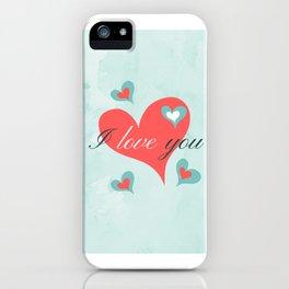 Saint Valentine's Day (I love you) iPhone Case