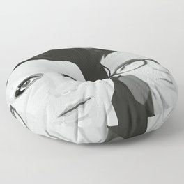 Lisbeth and Mikael / The Girl with the Dragon Tattoo Floor Pillow
