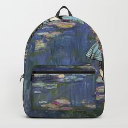 Water Lilies Magic - Alice In Wonderland Quote Backpack