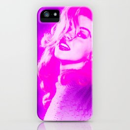 Vintage Lady Fuchsia Pink iPhone Case