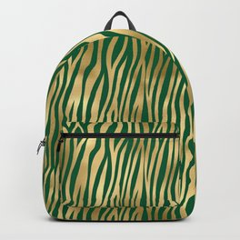 Beautiful Emerald and Gold Safari Patterns Backpack