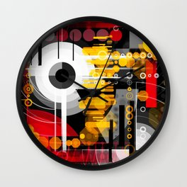 Colorful construction 67 Wall Clock