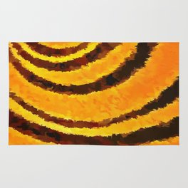Pop Art Tiger Stripe Animal Print Rug