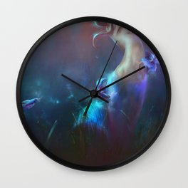 Fighting Fishes Wall Clock