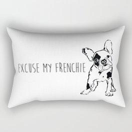Excuse My Frenchie Rectangular Pillow
