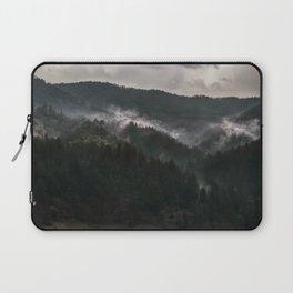 Foggy morning it Serbian mountains Laptop Sleeve