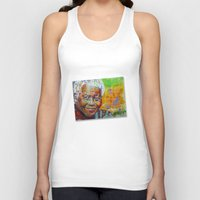 mandela Tank Tops featuring nelson mandela by yossikotler