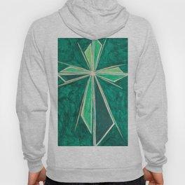 Green Cross Hoody