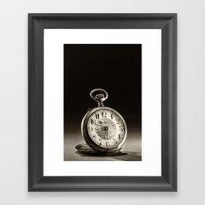 CLOCK 1 Framed Art Print