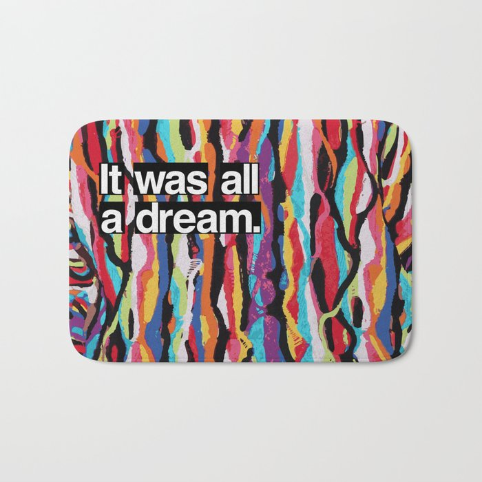 """It Was All A Dream"" Biggie Smalls Inspired Hip Hop Design Bath Mat"