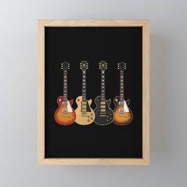 Four Electric Guitars Framed Mini Art Print