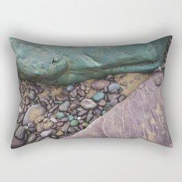 Green and Purple Beach Rectangular Pillow