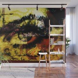 Eye graffiti double exposure Wall Mural