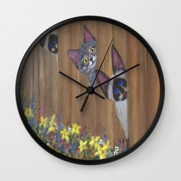 Three Little Kitties Wall Clock
