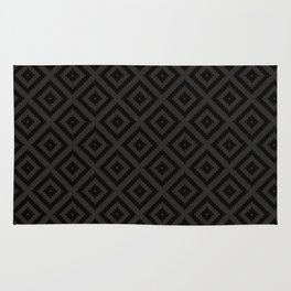 V23 Black Texture Lovely Traditional Pattern. Rug