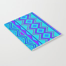 Tribal Pattern (blue & purple) Notebook