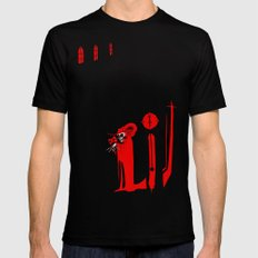 The Masque of the Red Death MEDIUM Black Mens Fitted Tee