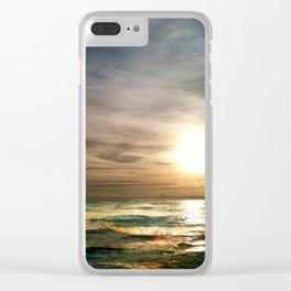 Florida Emerald Coast Sunset IV Clear iPhone Case