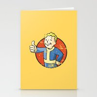 fallout Stationery Cards featuring Fallout Vault boy by Krakenspirit