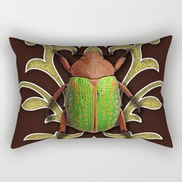 LIME BEETLE Rectangular Pillow