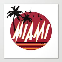 miami Canvas Prints featuring Miami by FRSHCo.