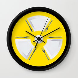 Polluted - Dinner Time Symbol Wall Clock