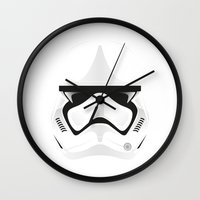 trooper Wall Clocks featuring Trooper by Guimov