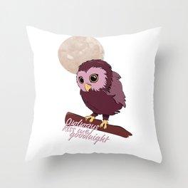 Owlways kiss me goodnight Throw Pillow