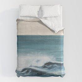 Surfing big waves Comforters