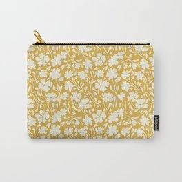 Winter Solstice Floral in Golden Yellow | Pattern Collection  Carry-All Pouch