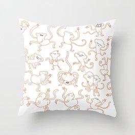 monkey dance Throw Pillow