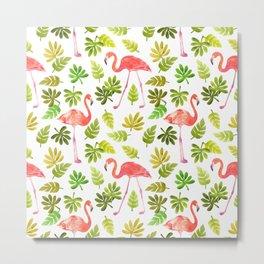 Flamingo and the Tropics Metal Print