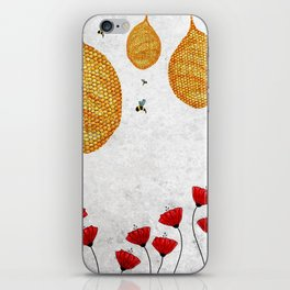 The Dance of the Honeybee iPhone Skin