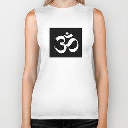 om sacred sound symbol Biker Tank