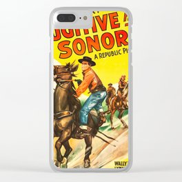 Fugitive from Sonora (1943) - Vintage Film Poster Clear iPhone Case