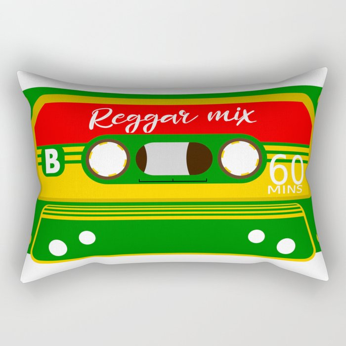 REGGAE MIX TAPE Rectangular Pillow