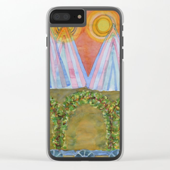 Tipis and decorated Wagon Clear iPhone Case
