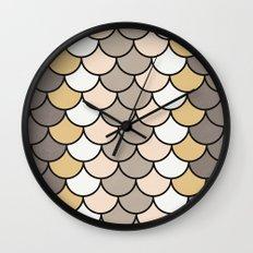 Vintage Silver Wall Clock