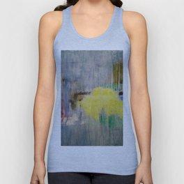 Subliminal Grey. Grey, Rain, Water, Car, Abstract, Blue, Jodilynpaintings Unisex Tank Top