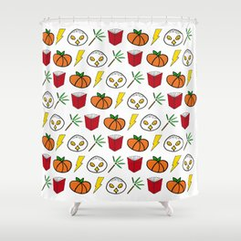 Books and Owls Shower Curtain