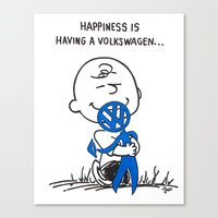 volkswagon Canvas Prints featuring Happiness is ......... by BulldawgDUDE