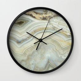 White Agate Wall Clock