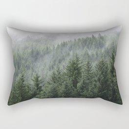 Fog Forest Rectangular Pillow