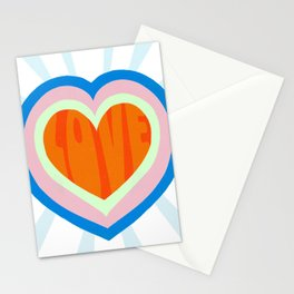 heart of love, orange Stationery Cards