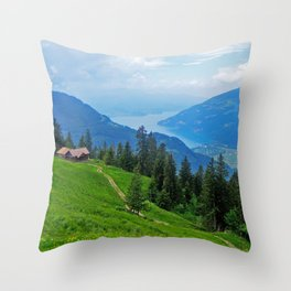 Above Interlaken Throw Pillow
