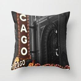 Historic Chicago Theatre Throw Pillow